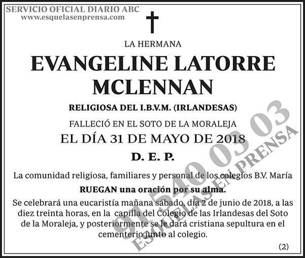 Evangeline Latorre Mclennan